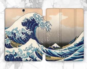 The Great Wave off Kanagawa 10.1 tablet case Galaxy tab a 8 case Samsung s2 9.7 case 10 inch tablet case Katsushika Hokusai painting case s3
