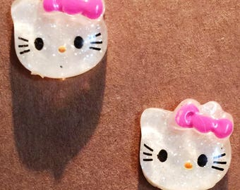 Cute Kitty earrings on nickel free posts.
