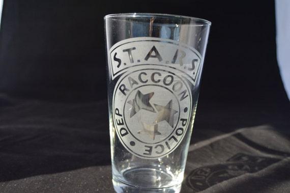 STARS resident evil pub glass