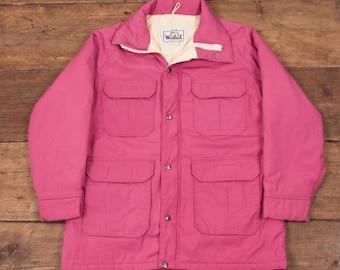 Womens Vintage Woolrich Down Waterproof Parka Jacket Size M R4396