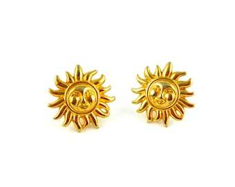 GIANNI VERSACE * Gorgeous vintage sun clip on earrings