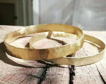 Hammered gold bangle bracelet, stacking gold bracelets, wide bangle, stacking bangles, minimalist bracelet hammered bangle hammered bracelet