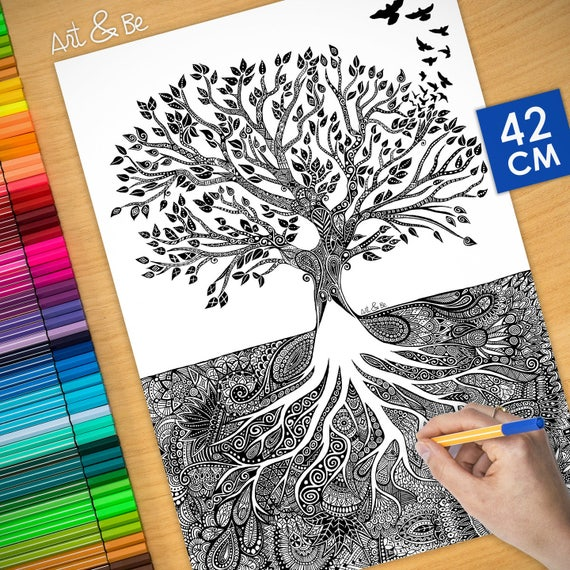 Coloring poster - TREE OF...