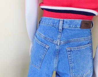 1990's, LL Bean, Women's SIze 8 Petite, High Waist, Mom Jeans, 100% Cotton