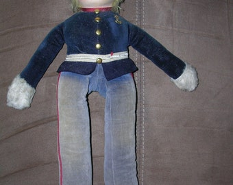 Vintage WWII 1940's Composite Hand Made Navy Doll