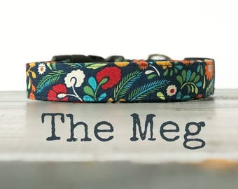 DOG COLLAR, Dog Collars, The MeG, Floral Dog Collar, Girl Dog Collar, Pretty Dog Collars