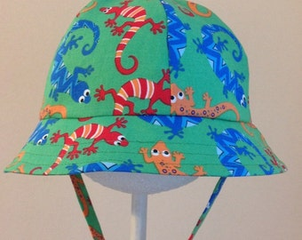 Baby Sun Hat -  Baby Boy Sun Hat - Baby Hat - Baby Boy Hat - Toddler Hat - Chin Strap