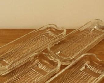 Alfresco Glass Corn on the Cob Serving Dishes Set - Retro - Gourmet Kitchen - Rayware