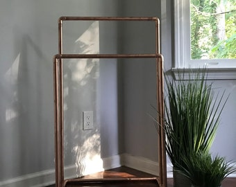 Brushed  copper blanket stand