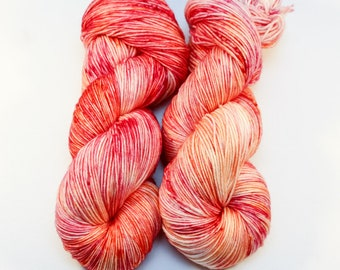 Hand Dyed Superwash Merino Sock Yarn - Indie Dyed Variegated Fingering Yarn - SUPER SQUISHY! - Sherbet Colorway
