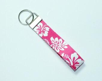 Pink Hawaiian Key fob, key ring