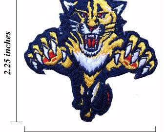 """Florida Panthers Logo Size 2.25"""" Embroidered Iron 1 Patches"""