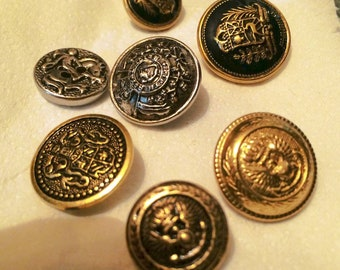 Vintage Buttons (military and uniform)