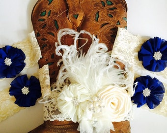 Bridal and bridemaids boot bracelets. Custom handmade in any colors requested.