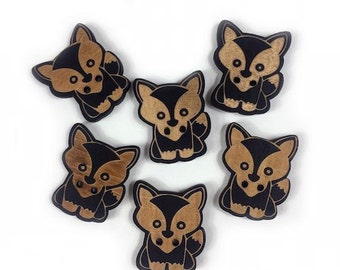 Set of 6 buttons decorative Fox - Forest Friends - Fox button - 1174780