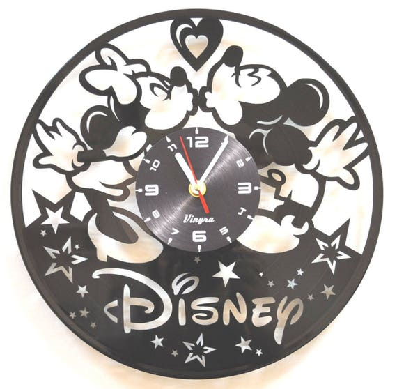 Mickey And Minnie Vinyl Wall Clock Mickey Mouse Vinyl Wall