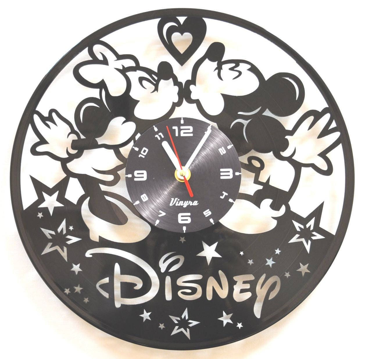 Mickey and minnie vinyl wall clock mickey mouse vinyl wall request a custom order and have something made just for you amipublicfo Gallery