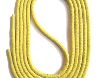 SNORS - laces - round LACES nature yellow, 3 lengths, diameter approx. 2-3 mm
