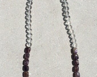 Amethyst and quartz necklace