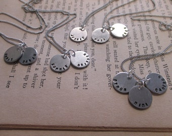 The Tracie Necklace - Tiny Disc Name Necklace