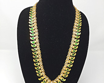 Long Necklace LH-20G for Bharatnatyam, Kuchipudi, Parties, Engagement, Weddings, Birthdays etc..