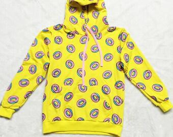 Bts Kpop Cute Donuts Printed Hoodies Kawaii Harajuku Kpop Girl's Sweatshirt Pocket Patch Long Sleeve Hoody Pull Sweatshirt