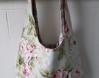 Lovely reversible bag made with old rose design
