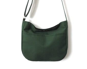 Canvas Hobo Bag Crossbody Bag Slouch Bag Purse Green