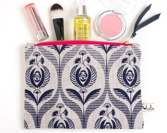 Medium makeup pouch with Art Deco print