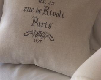 Chart PARIS Rue de RIVOLI 1877 - Paper or PDF format