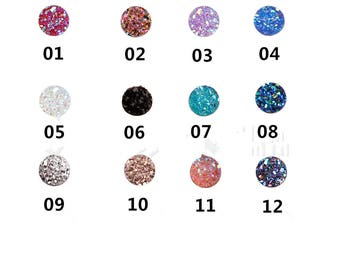 50Pieces  8mm Resin Druzy Cabochons