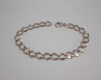 bracelet in silver with clasp 20 cm