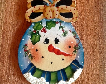 Holiday Spoon Snowman Ornament