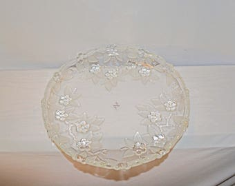 Mikasa Carmen Large Platter Walther Crystal made in West Germany 1980s