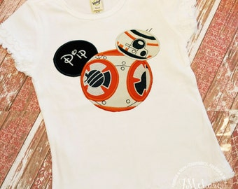 BB8 Inspired Mouse Custom embroidered Disney Inspired Vacation Shirts for the Family! 46