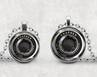 Camera Lens Pendant, Photographer Gift, Graphex Camera Lens Necklace, Splendant Pendant