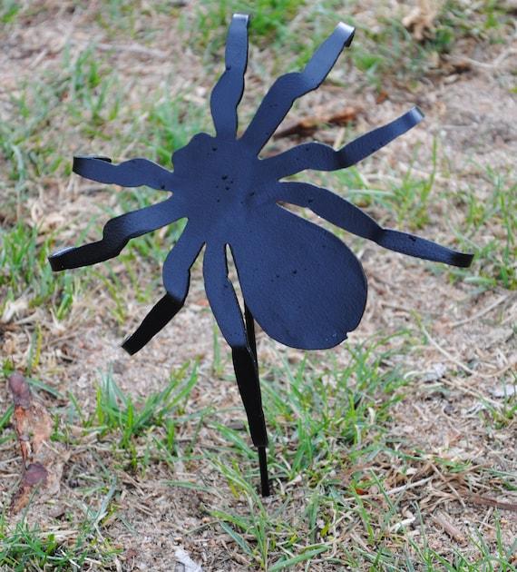Spider Garden Decoration, Metal Spider, Spooky Spider, Yard Art, Entomologiets, Bug Lover, Spider Lover, Arachnology, Spider Collectors Gift