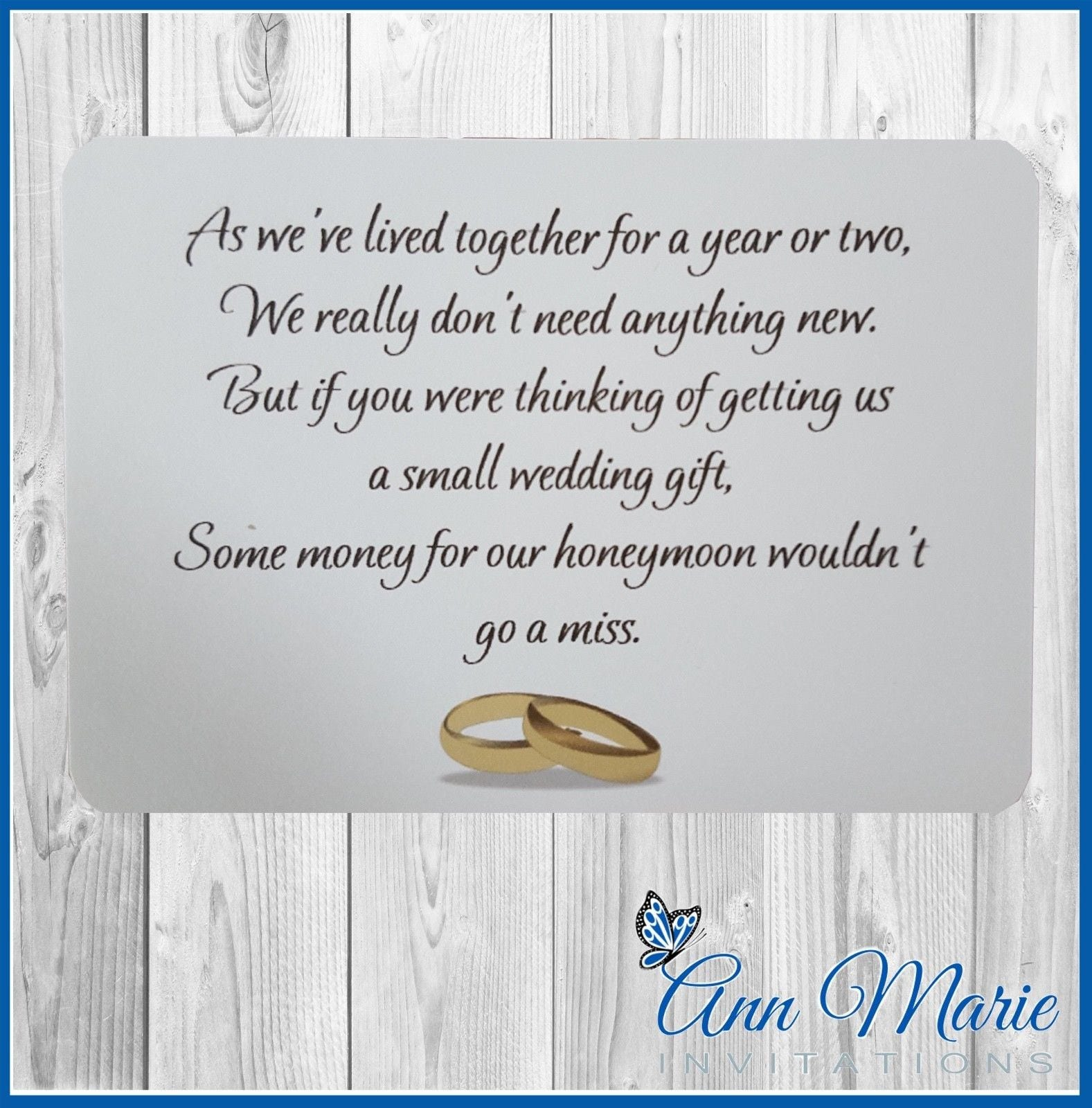 10 x personalised honeymoon wish poems card invitations zoom kristyandbryce Images
