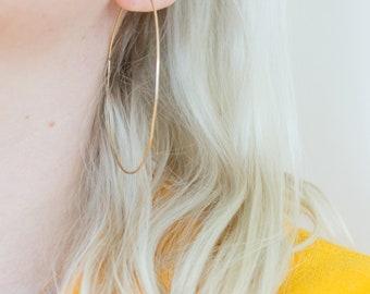 Gold Threader Earrings, Gift for Her, Gold Earrings, Threader Earrings, Hoop Earrings, Everyday Earrings, Minimalist Earrings
