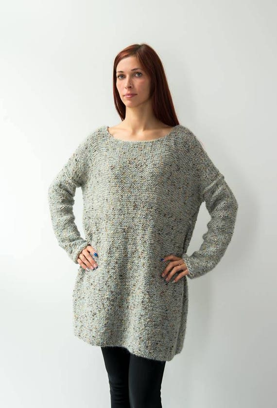a17d52b9600 Handmade boho sweater with long sleeves Oversized sweater