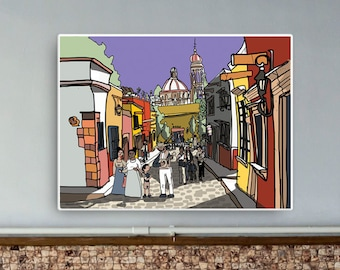 The Streets of San Miguel De Allende - Print on Canvas
