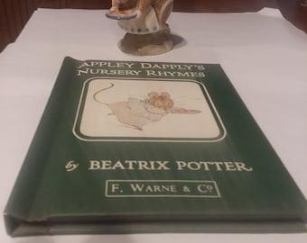 Beatrix Potter figurine 'Appley Dapply' plus nursery rhyme book