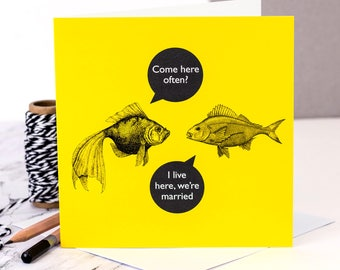 Funny Anniversary Card; Come Here Often?; Valentines Card; Love You Card; GC487