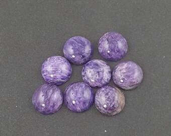 10mm Charoite Cabochon, calibrated, purple cab, charoite, charoite cab, charoite cabochon, purple stone, small cabochon, purple charoite
