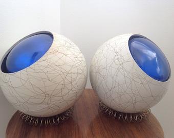 MCM Mid Century Modern Table Spotlights Lamps Large Pop 1960s Mod Pair