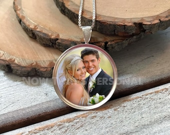 Photo Pendant Necklace - STERLING SILVER - 1 inch pendant - Photo Jewelry - Photo Necklace - Custom Photo Necklace - Personalized jewelry