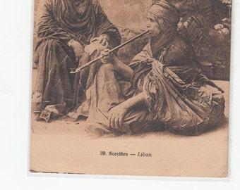 Liban Republique Sorcerer Witch Wizard 1930 Stamp Postcard
