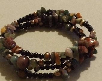 Multi Wrap beaded bracelet