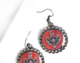 TORANJ tile design Earrings - Middle Eastern