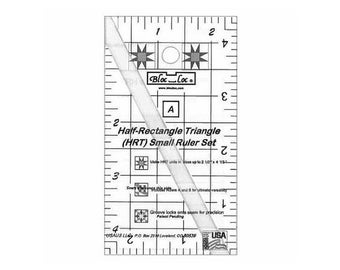 Bloc Loc~Half Rectangle Triangle Mini 2-1 Acrylic Ruler